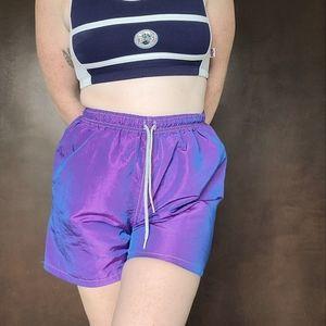 Vintage 90s Iridescent Shorts
